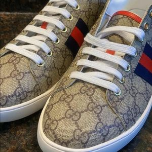 Gucci ace superme sneakers